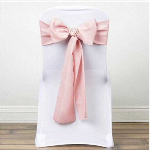 Noeud de chaise rose poudré