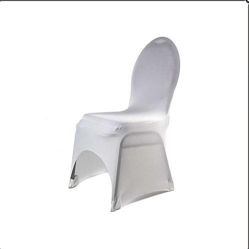 Housse de chaise lycra blanche universelle