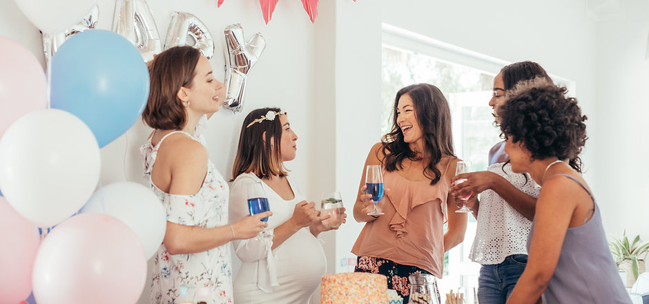 Pregnant woman celebrating baby shower p
