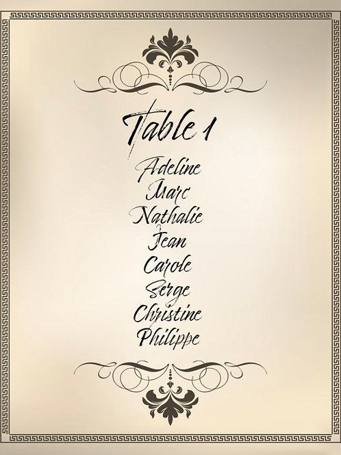 PLAN DE TABLE VINTAGE STYLE1