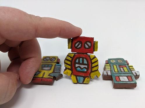 Robot magnets, set of 3 🤖