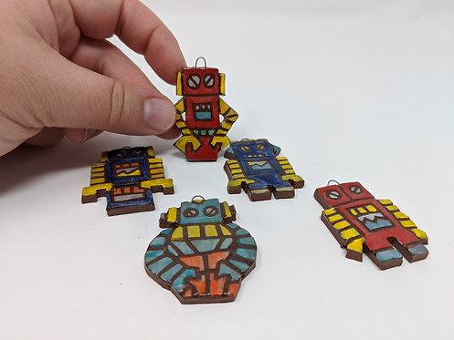 Robot charms, set of 5 ( 2 of 2)