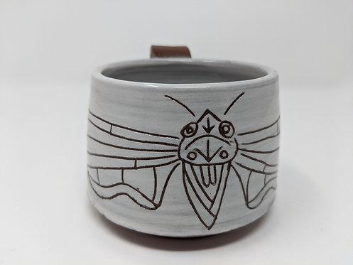 Cicada mug, holds around 10 oz, two of two