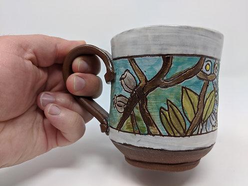 🐝Blueberry and bee mug, holds around 10 oz