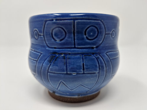🤖 Cobalt robot mug, holds around 8 ounces, 1 of 3