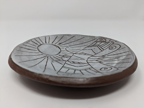 🌕Moth dish, shallow 4.5 inches, 1 of 4