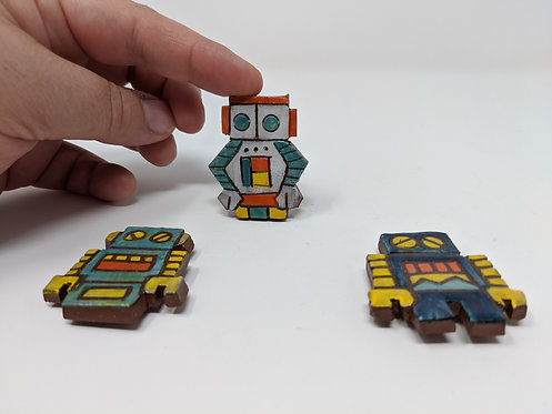 Robot magnets, set of 3 🤖