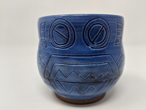 🤖 cobalt blue robot mug, holds around 8 oz, 2 of 3