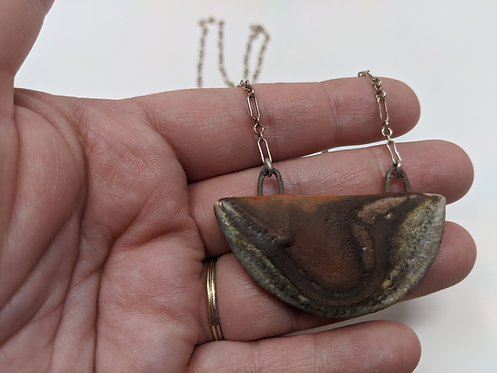 🔥 wood-fired necklace, no clasp, 26 in long
