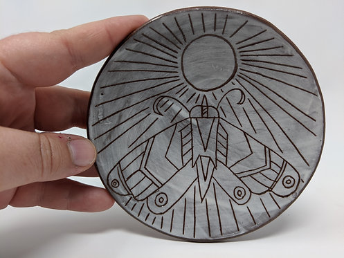 🌕 Moth dish, shallow 4.5 inches, 3 of 4