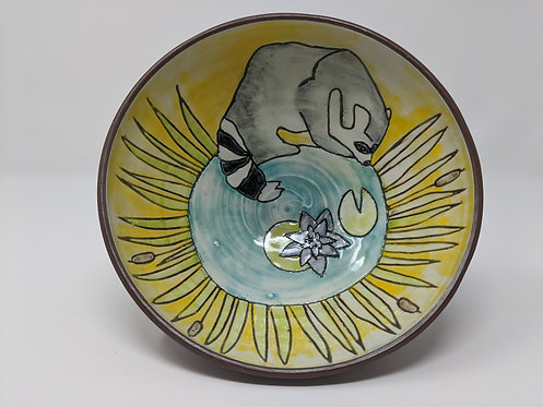 Racoon Bowl, holds ~ 26 ounces