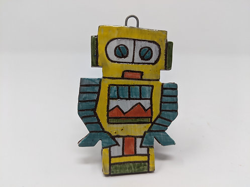 Yellow Bot Ornament