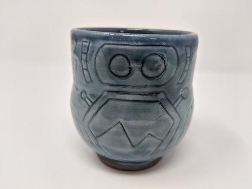 🤖  Drinking buddy mug, celadon, holds around 12 oz