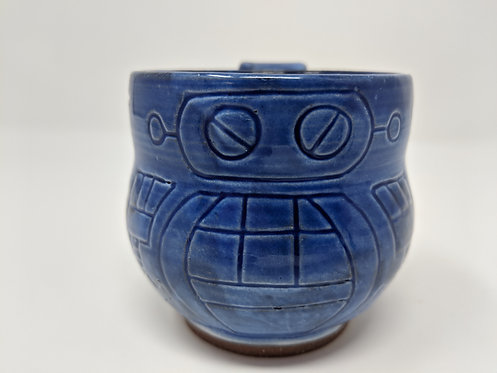 🤖 Cobalt blue robot mug, holds around 8 oz, 3 of 3