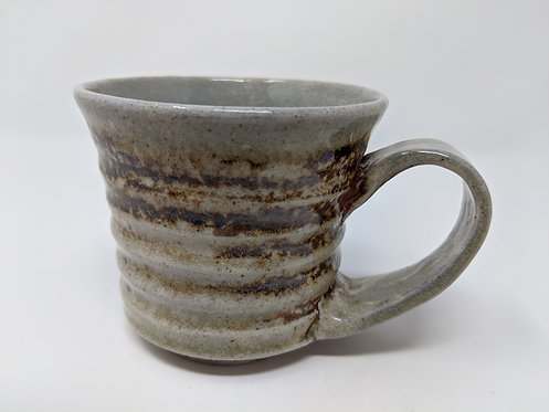 Soda fired mug, holds ~ 8 ounces