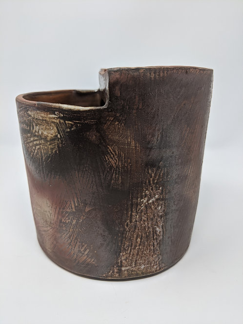 🔥 wood-fired utensil holder, five 1/2 in wide by six inches tall
