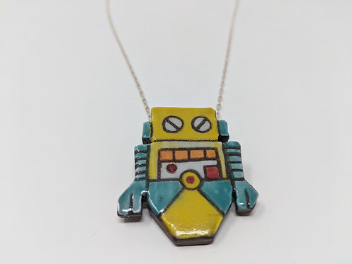 Yellow Bot Necklace, 24 inch chain