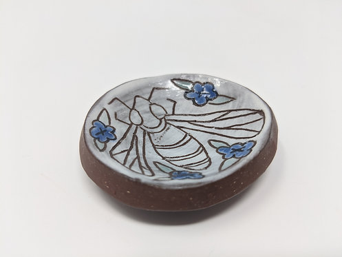 Bee and Flowers Ring Holder