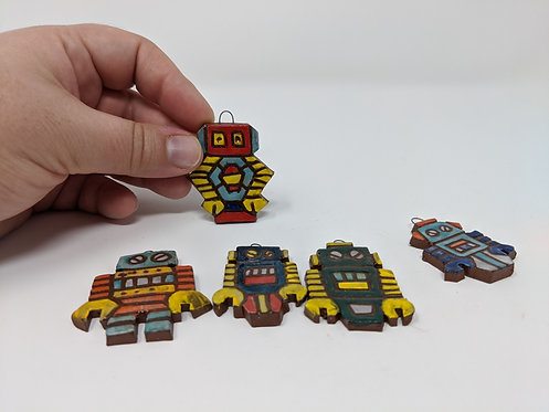 Robot charms, set of 5  ( 1 of 2)