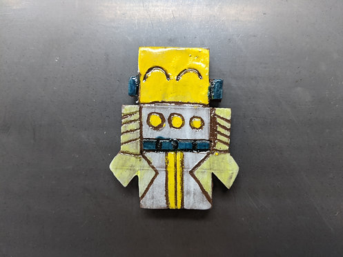 Yellow Robot Magnet