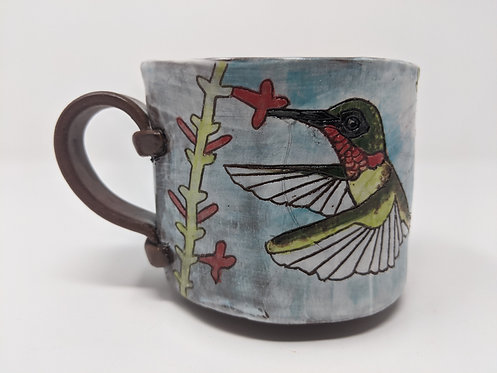 Hummingbird mug, holds ~ 12 ounces