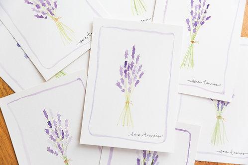 Watercolor Notecard - Lavender