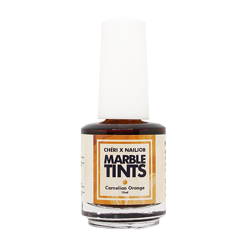 CHERI X NAILJOB - MARBLE TINTS 15ML, CARNELIAN ORANGE