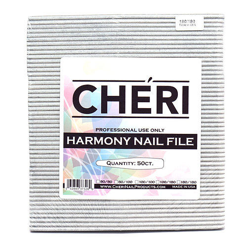 CHERI NAIL FILES - HARMONY - 180/180 - 50 COUNT
