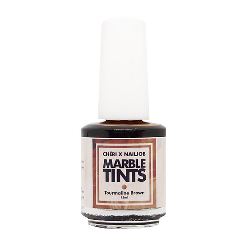 CHERI X NAILJOB - MARBLE TINTS 15ML, TOURMALINE BROWN