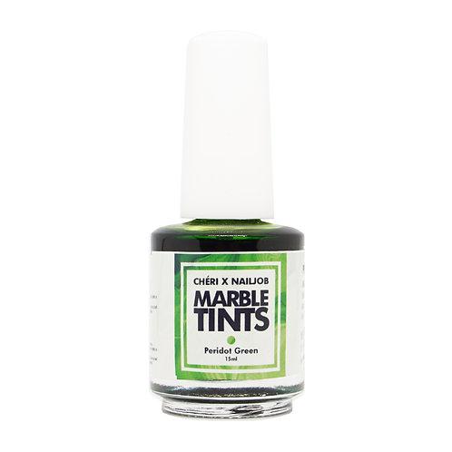 CHERI X NAILJOB - MARBLE TINTS 15ML, PERIDOT GREEN