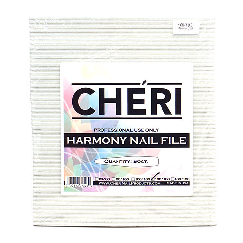 CHERI NAIL FILES - HARMONY - 100/180 - 50 COUNT