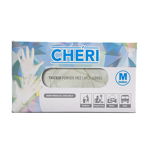 CHERI THICKER POWER FREE LATEX GLOVES - M