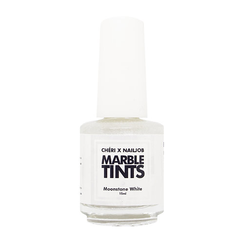CHERI X NAILJOB - MARBLE TINTS 15ML, MOONSTONE WHITE