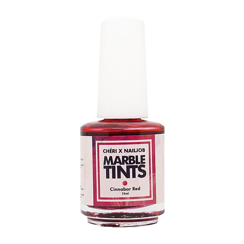 CHERI X NAILJOB - MARBLE TINTS 15ML, CINNABAR RED