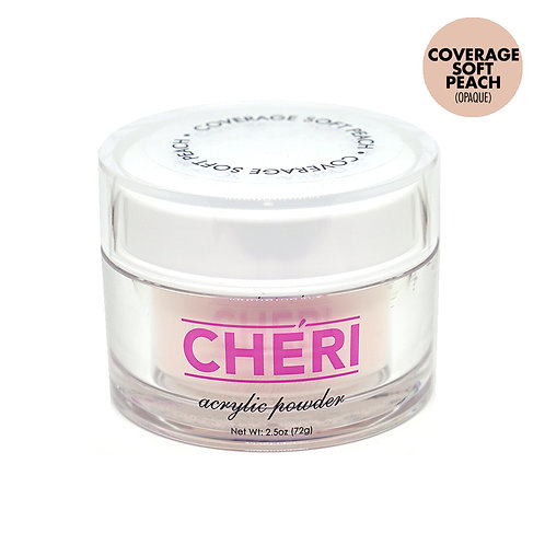 CHERI ACRYLIC POWDER 2.5 OZ - COVERAGE SOFT PEACH (OPAQUE)