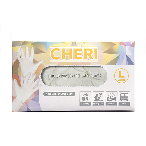 ACHERI THICKER POWDER FREE LATEX GLOVES - L