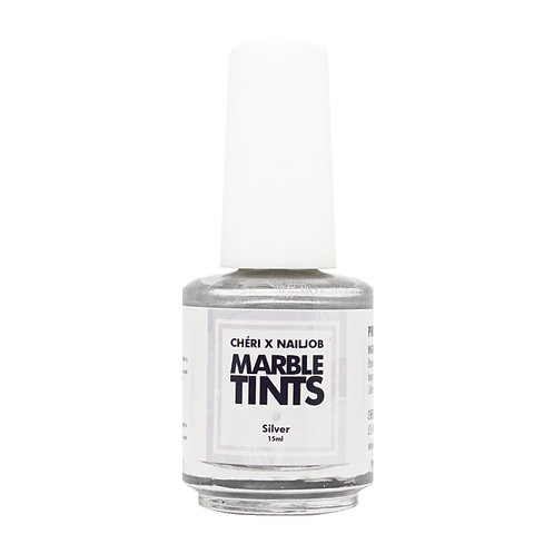 CHERI X NAILJOB - MARBLE TINTS 15ML, SILVER