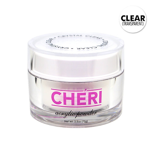 CHERI ACRYLIC POWDER 2.5OZ - CLEAR (TRANSPARENT)