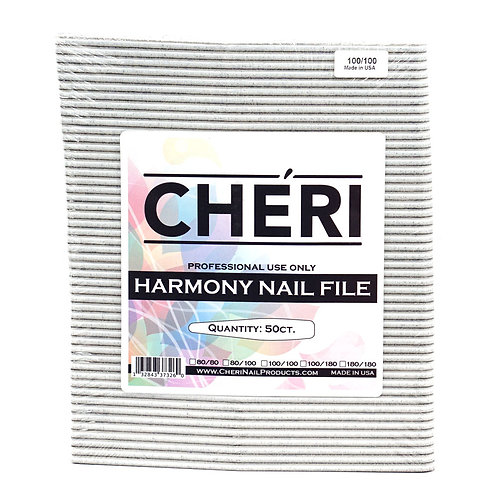 CHERI NAIL FILES - HARMONY- 100/100 - 50 COUNT