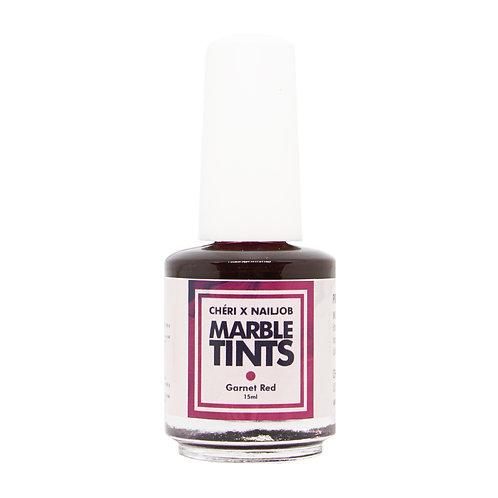 CHERI X NAILJOB - MARBLE TINTS 15ML, GARNET RED
