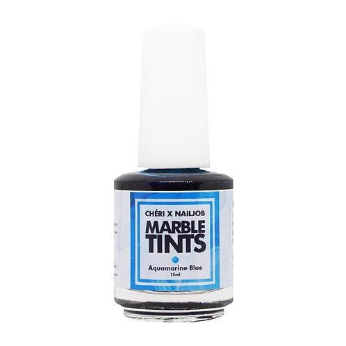 CHERI X NAILJOB - MARBLE TINTS 15ML, AQUAMARINE BLUE