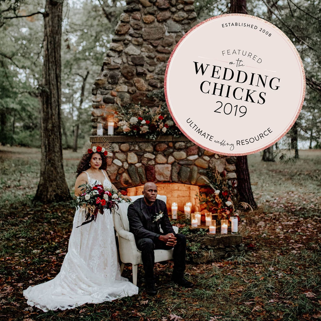 What A Beautiful Mix Of Dark Moody Glam And Inviting By: Cate & Brandon's Rustic Wedding With Moody Hues