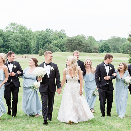 Heather & Logan's Glamorous White Wedding