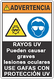 Advertencia rayos UV