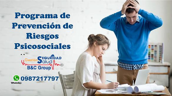 Programa de prevención de riesgos psicosociales Quito