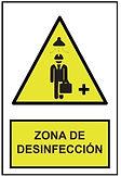 Señalética Zona de desinfección