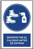 Desinfectar el calzado antes de entrar