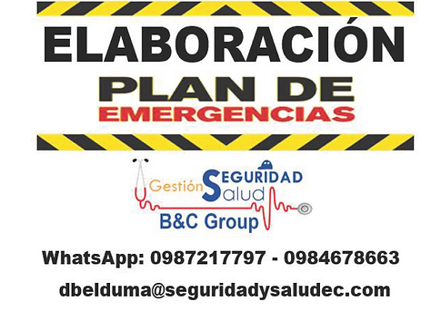 Elaboración plan de emergencias