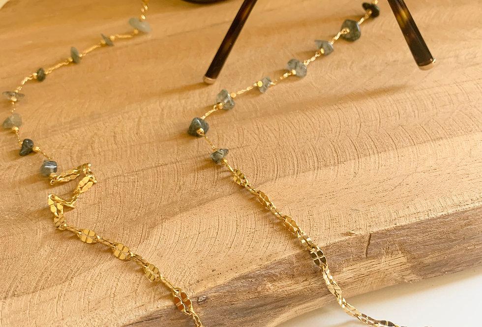 Chaîne de lunettes perles chips
