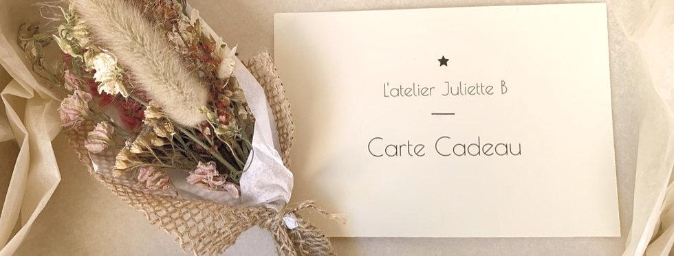 Carte cadeau L'atelier Juliette B